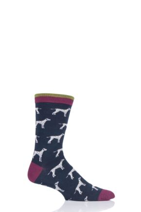Mens 1 Pair Thought Hound Dog Bamboo and Organic Cotton Socks