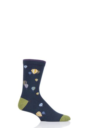 Mens 1 Pair Thought Explorer Bamboo and Organic Cotton Socks