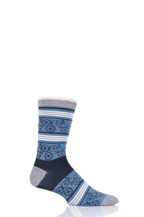 Mens 1 Pair Thought Bicycle Bamboo and Organic Cotton Socks