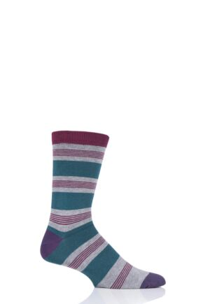 Mens 1 Pair Thought Jesper Stripe Bamboo and Organic Cotton Socks