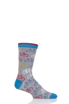 Mens 1 Pair Thought Cycler Bamboo and Organic Cotton Socks