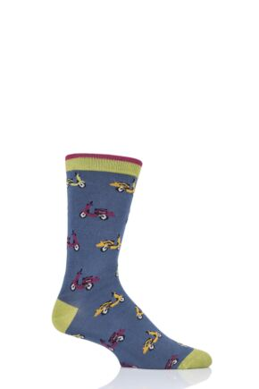 Mens 1 Pair Thought Scooter Bamboo and Organic Cotton Socks