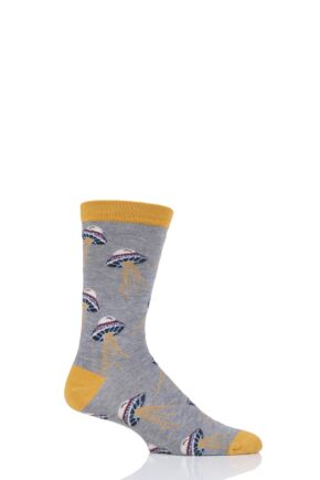 Mens 1 Pair Thought Galaxy and Space Bamboo and Organic Cotton Socks