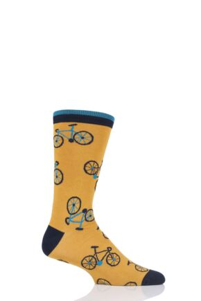 Mens 1 Pair Thought Cycling Bamboo and Organic Cotton Socks