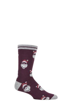 Mens 1 Pair Thought Nicholas Santa Bamboo and Organic Cotton Socks