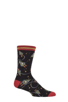 Mens 1 Pair Thought Cosmos Bamboo and Organic Cotton Socks