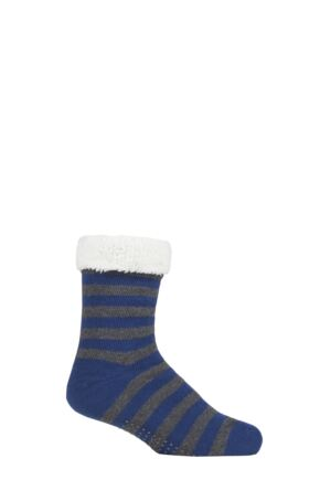 Mens 1 Pair Thought Organic Cotton and Recycled Polyester Chunky Lined Cabin Socks