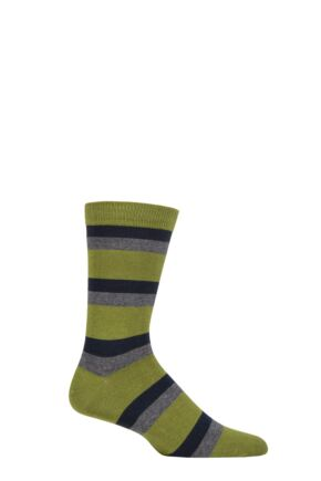 Mens 1 Pair Thought Wilbert Stripe Bamboo and Organic Cotton Socks
