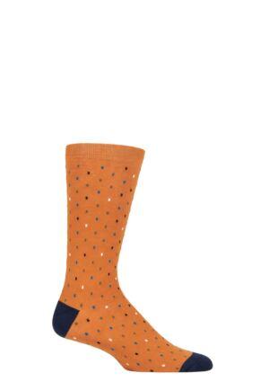Mens 1 Pair Thought Eman Line Organic Cotton Socks Amber Yellow 7-11 Mens
