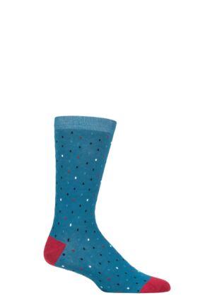 Mens 1 Pair Thought Eman Line Organic Cotton Socks