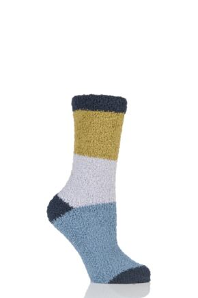 Ladies 1 Pair Thought Wimborne Recycled Polyester Striped Socks
