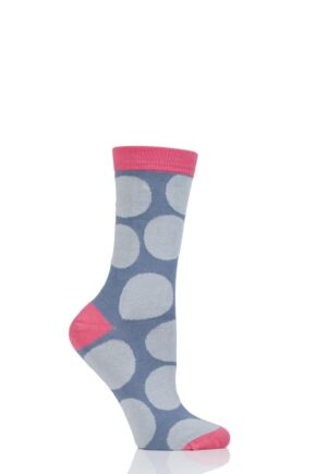 Ladies 1 Pair Thought Luna Large Dots Bamboo and Organic Cotton Socks