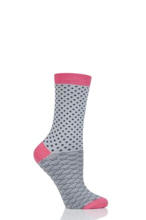 Ladies 1 Pair Thought Wren Small Dots Bamboo and Organic Cotton Socks
