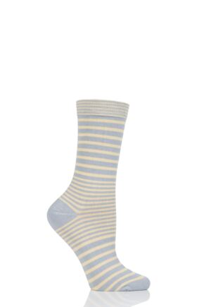 Ladies 1 Pair Thought Lillian Fine Stripe Bamboo and Organic Cotton Socks