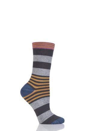 Ladies 1 Pair Thought Irena Multi Stripe Bamboo Socks