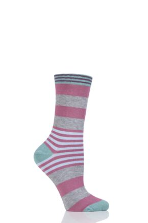 Ladies 1 Pair Thought Irena Multi Stripe Bamboo Socks