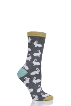 Ladies 1 Pair Thought Rabbit Bamboo and Organic Cotton Socks