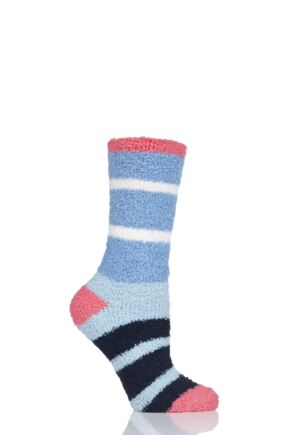 Ladies 1 Pair Thought Celia Striped Recycled PET Socks