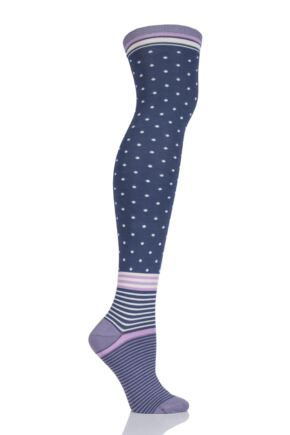 Ladies 1 Pair Thought Jemima Bamboo and Organic Cotton Over the Knee Socks