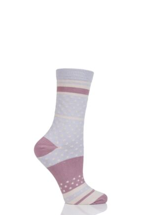Ladies 1 Pair Thought Maisy Dots Bamboo and Organic Cotton Socks