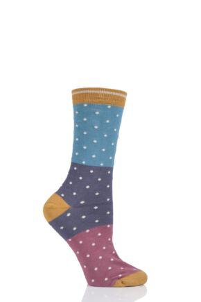 Ladies 1 Pair Thought Natacha Spots Bamboo and Organic Cotton Socks