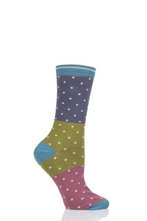 Ladies 1 Pair Thought Natacha Spots Bamboo and Organic Cotton Socks