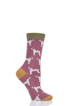 Ladies 1 Pair Thought Dalmatian Bamboo and Organic Cotton Socks