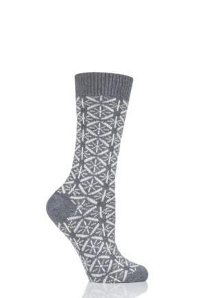 Ladies 1 Pair Thought Viridian Wool Socks