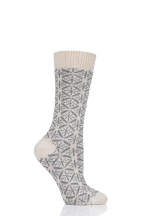 Ladies 1 Pair Thought Viridian Wool Socks