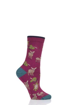 Ladies 1 Pair Thought Renko Bamboo and Organic Cotton Socks