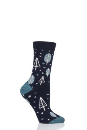 Ladies 1 Pair Thought Erskie Bamboo and Organic Cotton Socks