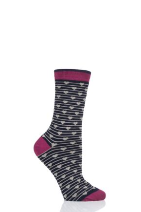 Ladies 1 Pair Thought Herbert Bamboo and Organic Cotton Socks