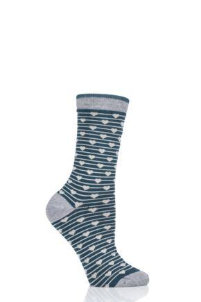 Ladies 1 Pair Thought Herbert Bamboo and Organic Cotton Socks