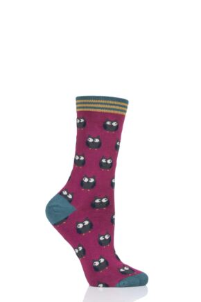 Ladies 1 Pair Thought Owlie Bamboo and Organic Cotton Socks