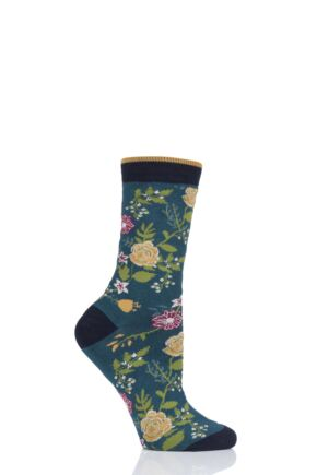 Ladies 1 Pair Thought Garden Bamboo and Organic Cotton Socks