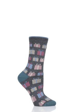 Ladies 1 Pair Thought Gift Bamboo and Organic Cotton Socks