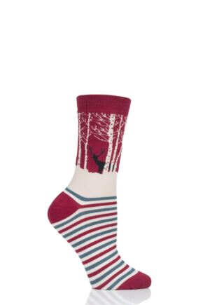 Ladies 1 Pair Thought Winter Wood Bamboo and Organic Cotton Socks