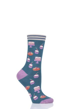 Ladies 1 Pair Thought Cupcake Bamboo and Organic Cotton Socks