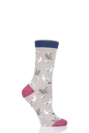 Ladies 1 Pair Thought Goosey Lucy Bamboo and Organic Cotton Socks