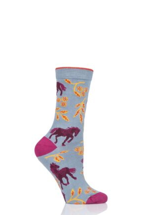 Ladies 1 Pair Thought Filly Bamboo and Organic Cotton Socks