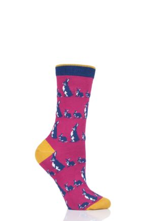 Ladies 1 Pair Thought Animal Kin Bamboo and Organic Cotton Socks