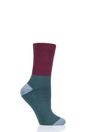Ladies 1 Pair Thought Walker Bamboo and Organic Cotton Walking Socks Deep Teal 4-7 Ladies