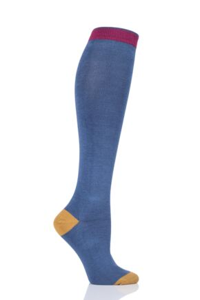 Ladies 1 Pair Thought Plain Bamboo and Organic Cotton Knee High Socks