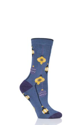 Ladies 1 Pair Thought Bauble Bamboo and Organic Cotton Socks