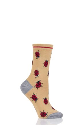 Ladies 1 Pair Thought Insect Bamboo and Organic Cotton Socks Buttercup 4-7 Ladies