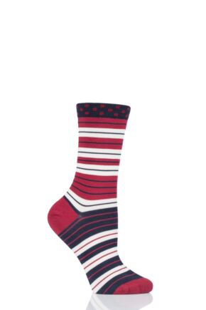Ladies 1 Pair Thought Addie Stripe Bamboo and Organic Cotton Socks