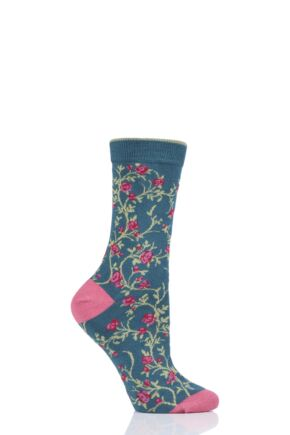 Ladies 1 Pair Thought Floreale Flower Bamboo and Organic Cotton Socks
