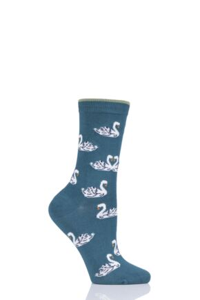 Ladies 1 Pair Thought Cigno Swan Bamboo and Organic Cotton Socks