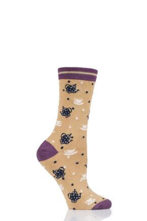 Ladies 1 Pair Thought Antea Tea Bamboo and Organic Cotton Socks