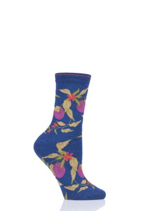Ladies 1 Pair Thought Fruit Tree Bamboo and Organic Cotton Socks